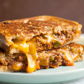 Sloppy Joe Grilled Cheese Sandwiches.