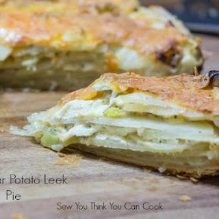 Cheddar Leek Potato Pie.
