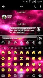 GlassNebula SMS Zprávy - náhled