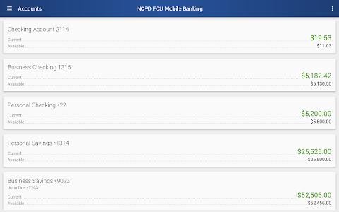 NCPD FCU Mobile Banking screenshot 10