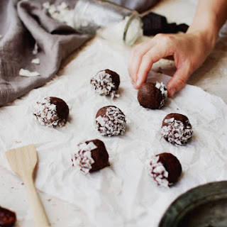No Bake Almond Butter and Chocolate Energy Bites.