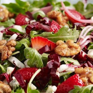 Arugula, Strawberry and Walnut Salad