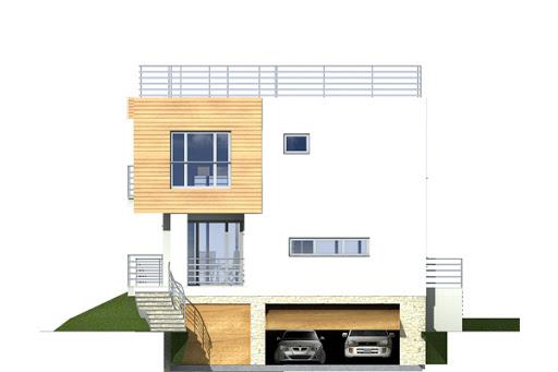 Nasz Dom wersja A - Elewacja przednia