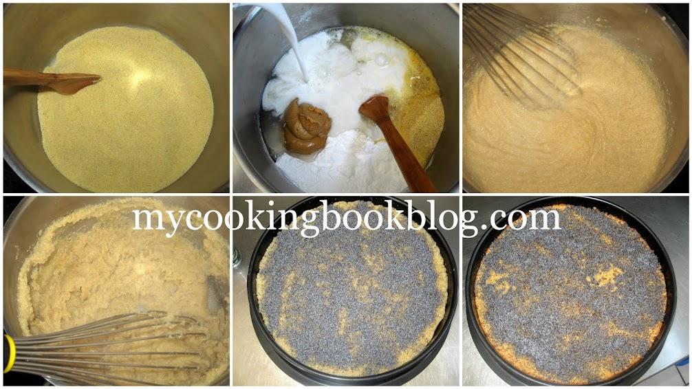 Грис халва с кокосово мляко, фъстъчено масло и маково семе