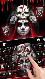 Bloody Creepy Lady Keyboard Theme 1.0 Mod APK Updated Android 2