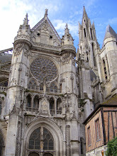 Photo: The cathedral is significantly smaller than its Parisian cousin, but still quite striking.