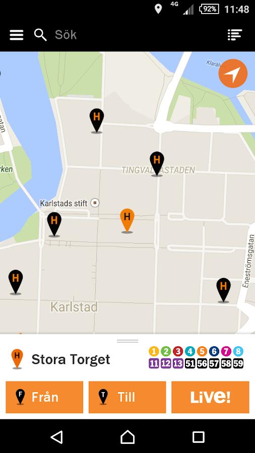 Karlstadsbuss- screenshot