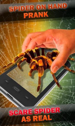 蜘蛛在手。攝像頭惡作劇