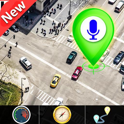 GPS satélite rota mapa direção E voz navegação