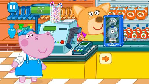 Cashier in the supermarket. Games for kids apklade screenshots 1