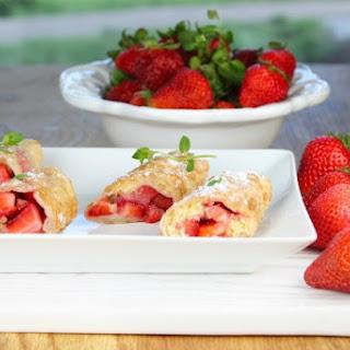 Strawberry Shortcake Egg Rolls.