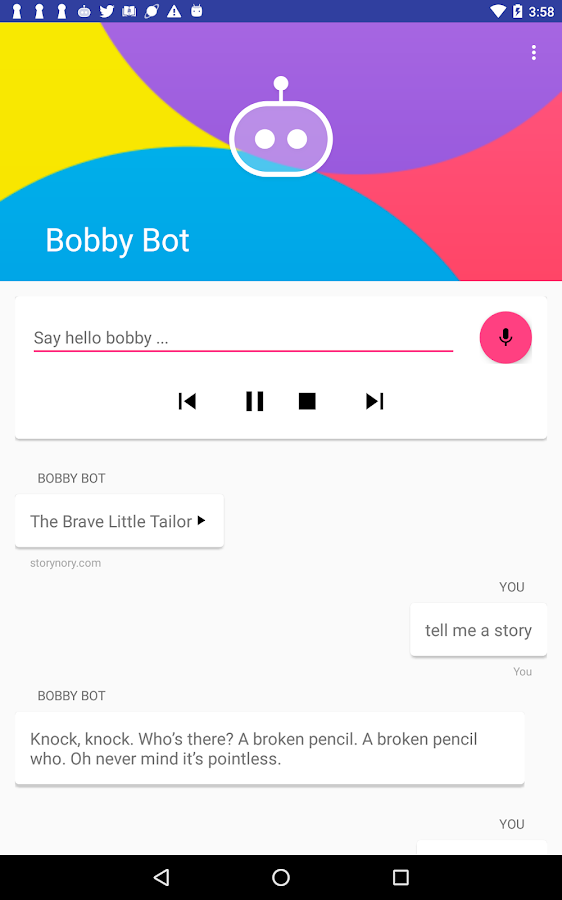 Bobby Bot: Voice Assistant for Kids & Parents (Unreleased)- screenshot