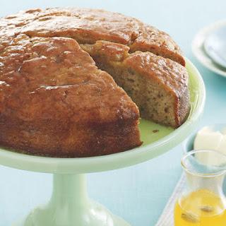 Zucchini Cake with Orange Cardamon Syrup