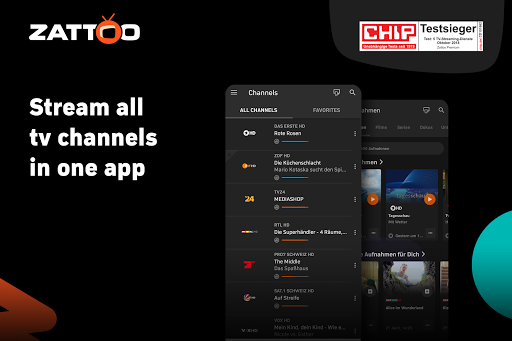 Zattoo - TV Streaming App 2.1925.0 screenshots 1