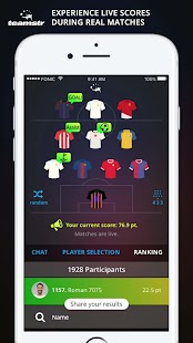 teamstr fantasy football- screenshot thumbnail