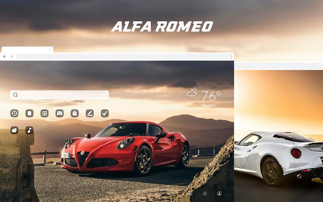 Alfa Romeo Car HD Wallpapers New Tab Theme