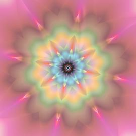 by Cassy 67 - Illustration Abstract & Patterns ( abstract, pastel, stars, fractal art, digital art, star, bloom, harmony, fractal, flowers, fractals, digital, light, flower )