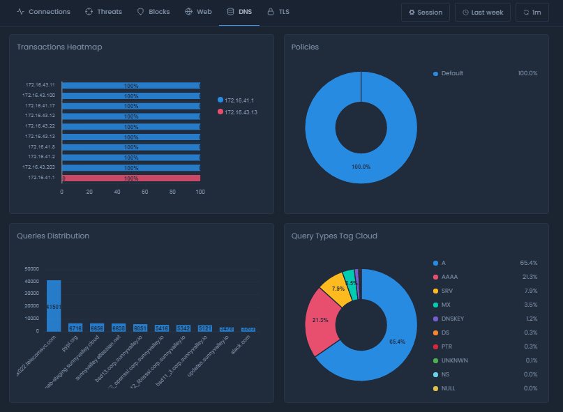 DNS Report View on Cloud Portal