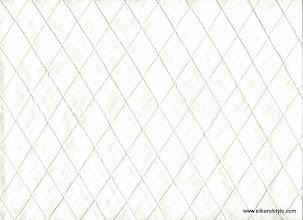 Photo: Pintuck Silk ~ Ivory - 1 Inch Diamond