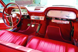 Photo: Here is the interior of a 1962 Monza with 4 speed on the floor.  These were sold by the hundreds of thousands!  Bucket Seats were standard on the popular coupe, but cost another $59 to add them to the sedan or wagon Monzas.