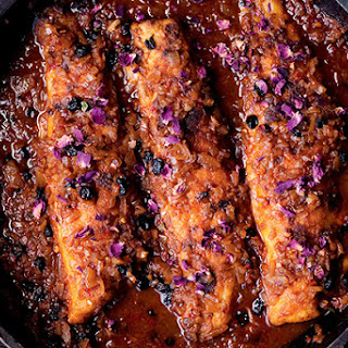 Panfried Sea Bass with Harissa & Rose