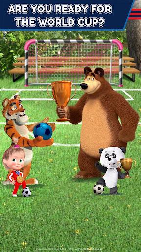 Masha and the Bear: Football Games for kids screenshots 2