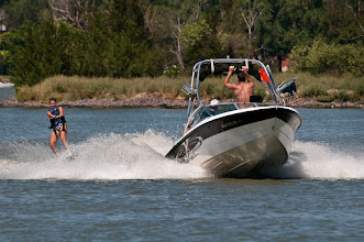 Photo: Water skiing is popular on Sloan's Lake