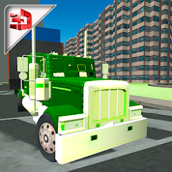 Mineral Water Delivery Truck & City Transport