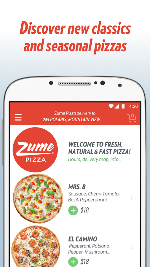 Zume Pizza- screenshot
