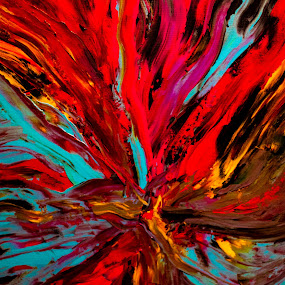 Mother's Departure by Michael Thorndike - Abstract Patterns ( abstract art, painting, abstract, art photography, colors )