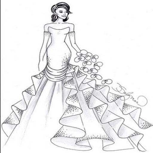 设计婚纱女