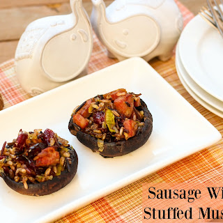 Sausage Wild Rice Stuffed Mushrooms