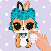 PETS Coloring : Yes.Pixel Art by Number icon