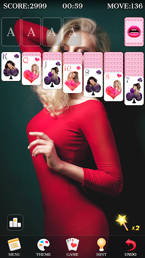 Solitaire - Beautiful Girl Themes, Funny Card Game 1.3.8 screenshots 4