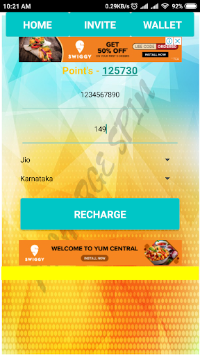 Recharge Spin - Free Mobile Recharge 2.0 screenshots 3