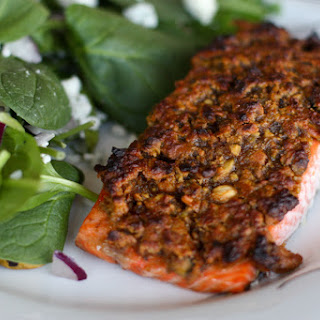 Grapefruit and Pistachio Crusted Salmon