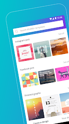 Canva: Poster, banner, card maker & graphic design APK screenshot thumbnail 1