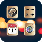 App Golden Minimalist Style Icon Pack APK for Windows Phone