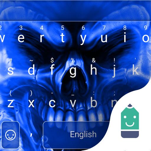 Blue Skeleton Emoji Keyboard