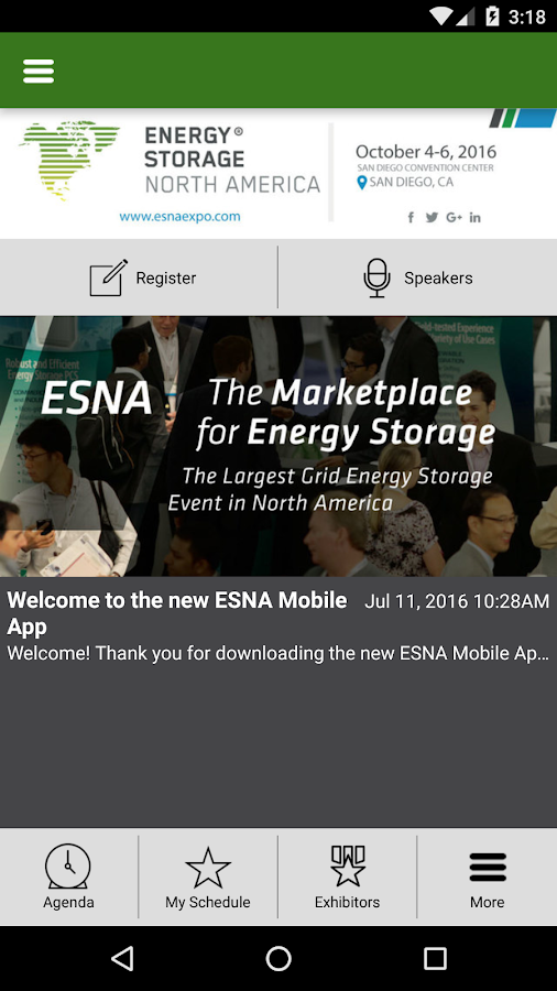ESNA Conference & Expo- screenshot