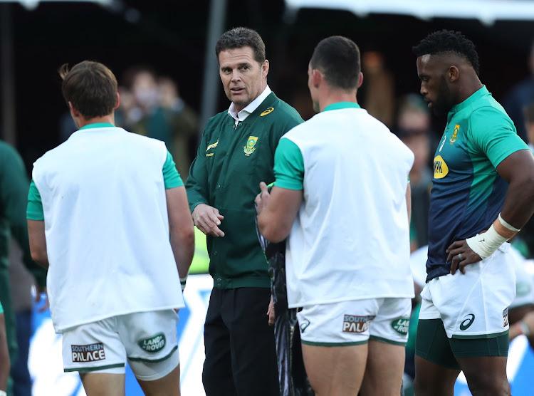 Rassie Erasmus, coach of South Africa during the international rugby match between South Africa and England at Ellis Park, Johannesburg on 09 June 2018.