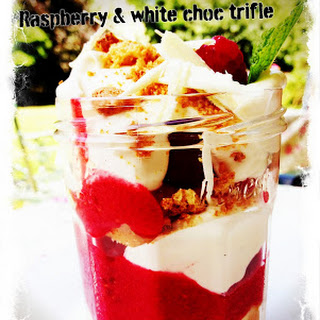 Raspberry & White Chocolate Trifle