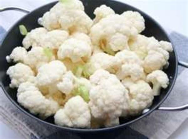 in a medium Pot, add cauliflower, Water, & salt. Bring to Boil. Reduce Heat, COVER and...