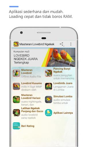 Masteran LoveBird Ngekek  screenshots 1