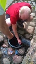 Photo: Šventupės šaltinio vanduo dulkėms nuplauti