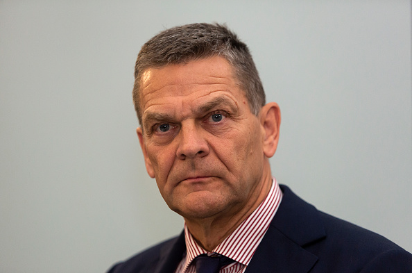 Ole Andersen, former Chair at Danske Bank, during the banks press conference at Tivoli Hotel and Congress Center in Copenhagen, Denmark. Picture: GETTY IMAGES/ OLE JENSEN
