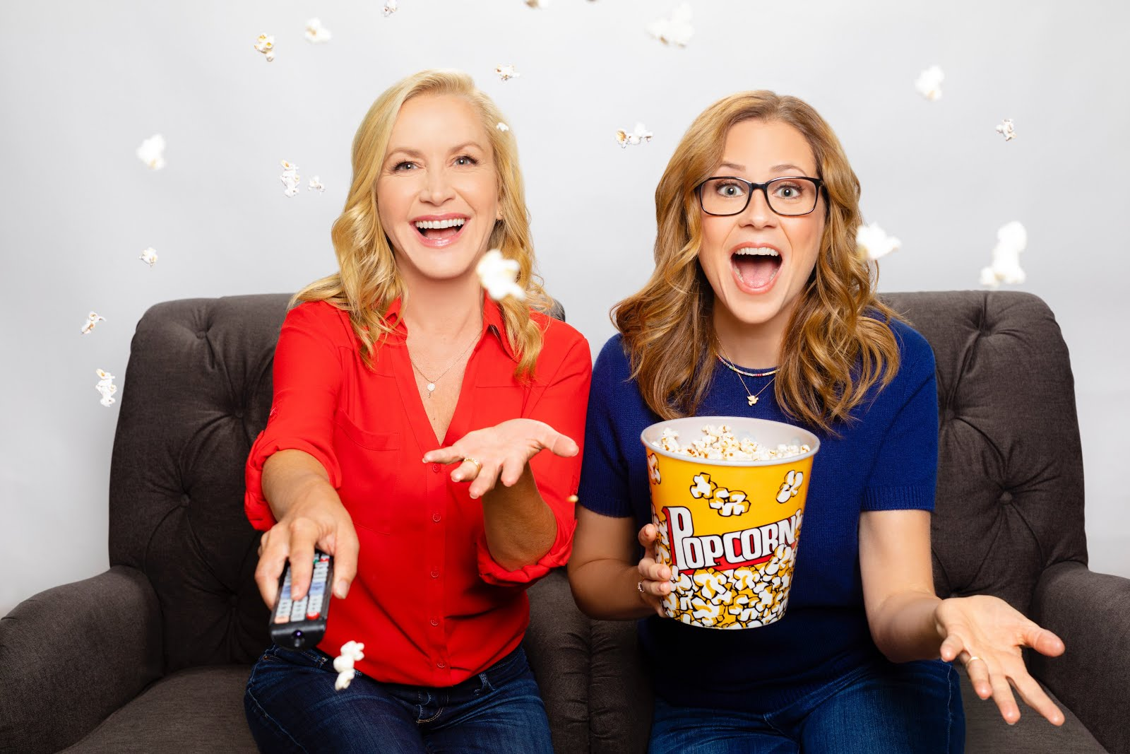 Angela Kinsey and Jenna Fischer of Office Ladies ( source: Courtesy of Earwolf )
