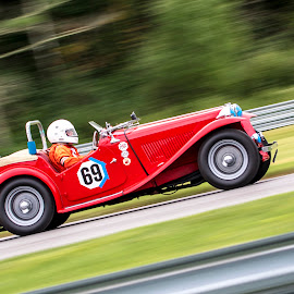 1948 MG TC by Debbie Quick - Transportation Automobiles ( automobile, race track, debbie quick, race car, car, lime rock park, mg tc, 1948, debs creative images, transportation,  )