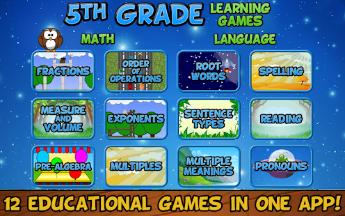 Fifth Grade Learning Games- screenshot thumbnail