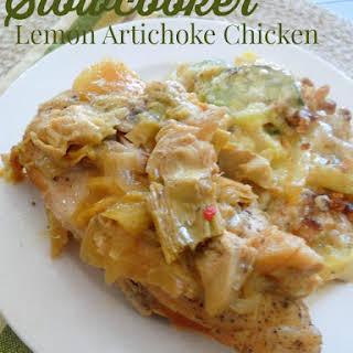 Slow Cooker Lemon Artichoke Chicken.